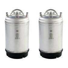2 Pack of NEW 3 Gallon Ball Lock Kegs Single Handle - Perfect for Homebrewing!