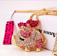 Fashion Jewelry Betsey Johnson charm pendant chain Cute pig women long necklaces