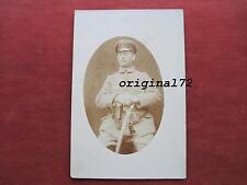 Foto,Karte, Soldat in Uniform mit Säbel und Pistolentasche 08