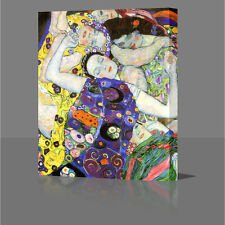 Gustav Klimt The Virgin Large 16 Inch Modern Framed Canvas Art Picture Print