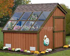 8 x 8 Greenhouse Nursery Garden Shed Plans #40808