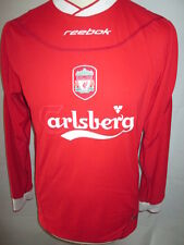 "Liverpool 2002-2004 Home Football Shirt no 11 long sleeve Size 34""-36"""
