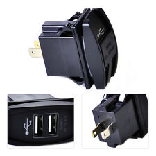 Car 12-24V Waterproof Dual USB Socket Charger Power Adapter Supply Charger Port