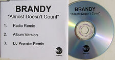 BRANDY CD Almost Doesnt Count 3 Track ACETATE UK Promo Only Rare UNPLAYED