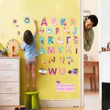 my little pony alphabet letters wall stickers nursery decor decal teaching gift