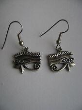 Sterling Silver Egyptian Eye Dangle Hook Earrings New
