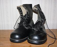 Vintage 1966 Vietnam era  Black Leather Combat Boots 14W 14