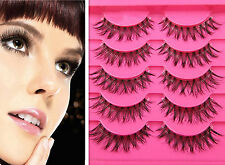 5 pair New Natural clear band False eyelashes Winged eye lashes Daily eyelashes