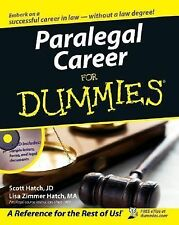 Paralegal Career for Dummies by Lisa Zimmer Hatch and Scott Ha (FREE 2DAY SHIP)