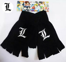 Japan Anime Death Note Cosplay Black Knitted Fingerless Gloves Cartoon Gift New