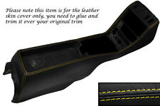 YELLOW STITCH CENTRE CONSOLE LEATHER SKIN COVER FITS MERCEDES W123 1978-1985