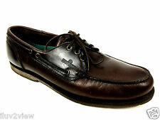 "Sebago Men's Boat Deck Shoes ""CLASSIC DOCKSIDES"" Brown Leather Size 14 USA"