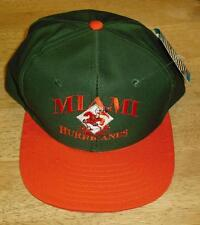 Miami Hurricanes hat snapback NCAA 90's vintage cap w/ tag MINT The U Canes