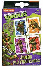 TEENAGE MUTANT NINJA TURTLES JUMBO PLAYING CARDS! SEVERAL GAMES! TMNT! FREE SHIP