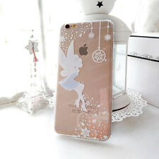 Cartoon Pretty Princess Snowflake Transparent TPU Soft Case For iPhone 5 6 7Plus