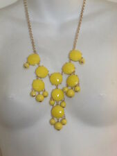 J.Crew Large Pyramid Bubble necklace NIP $150 yellow