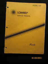 Lowrey Organ L22 Fiesta Service Manual Schematics Parts List FACTORY OEM