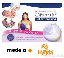 Freemie Collection Cups Hands Free Concealable Breast Pump Milk Collection Delux