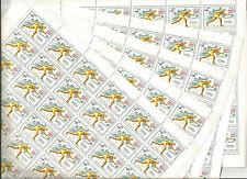 URSS 1976... 5 Feuilles n° 4226 ★★...Jeux-Olympiques...SKI DE FOND...Coté 36€