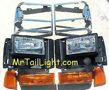 8 Piece Head Light Kit Ford Explorer 91 92 93 94 Parking Side & Chrome Doors