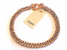 NEW Solid Copper Ladies FINE Chain Link Bracelet - Arthritis Relief Folklore
