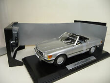 1:18 NOREV MERCEDES 350 sl w107 argent silver Mercedes Classic Edition NEUF NEW