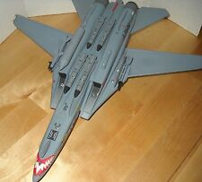 VINTAGE-DIE CAST METAL-F-14 A -NAVY FIGHTER JET-AN HOOCH ROBERTS  damaged  400