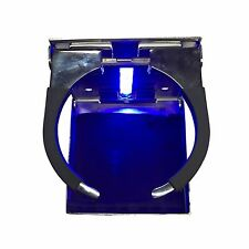 Stainless Steel Blue LED Adjustable Folding Cup Drink Holder Marine Boat
