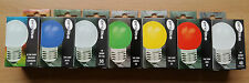 1w LED Coloured Golf Round Bulb BC ES Blue Red Green Yellow White Changing UK
