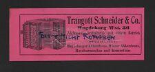 MAGDEBURG, Anzeige 1909, Traugott Schneider & Co. Akkordeon-Fabrik