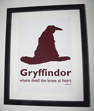 Harry Potter Inspired Sorting Hat - Gryffindor Picture - A4 Art Print / Poster