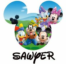 DISNEY MINNE MICKEY MOUSE CHARACTERS PERSONALIZED T-SHIRT IRON ON TRANSFER