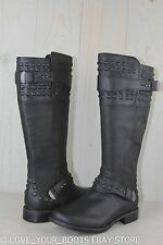 UGG DAYLE STUD BLACK LEATHER METAL STUDS WOMENS TALL  BOOTS US 12 EU 43  NIB
