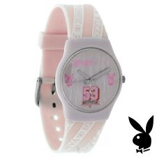 Pink Playboy Watch Bunny Logo VARSITY VIXEN College Girls Teens Women RARE HTF 1