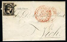 ESPAÑA 6 CARTA BARCELONA A VICH 28 ENERO 1851
