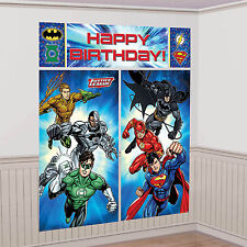 Justice League DC Comic Party Scene Setter Wall Decoration Backdrop Kit