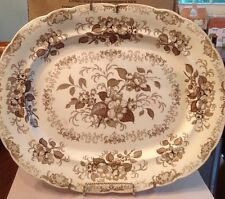 "William Ridgeway, Son, & Co. Huge 17""x 13.75"" Turkey Platter; Apple Blossom"