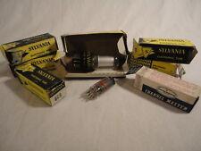 Lot of (8) Vintage Radio Tubes Sylvania  1G3GT 1B3GT 6C9 6CY7 6HB7 6EU8 & More