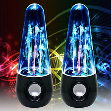 LED Dancing Water Show Music Fountain Light Speakers for Phones  Laptop PC Black