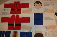 "V.I.P. Fabric Panel makes LITTLE DRUMMER BOY - 21"" - NEW - Stuffed - Moveable"