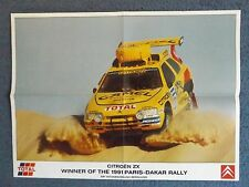 "23"" x 17"" RALLY POSTER - ARI VATANEN - 1991 PARIS DAKAR WINNER - CITROEN ZX"