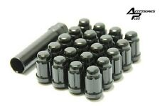 23 Pc JEEP BLACK SPLINE LUG NUTS 1/2 With KEY Part # AP-5650BK