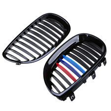 Gloss Black Front Kidney Grilles Grill For BMW E60 E61 5Series M5 04-09 M-Color