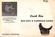 "Ozark Sewing Crafting Quilting Pattern ""Hen"" Bun Cozy and Casserole Cover"