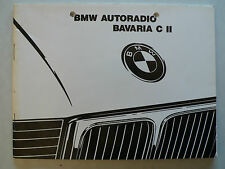 Manual de instrucciones-BMW autoradio bavaria C II, 7.1989, 52 páginas con radio Pass