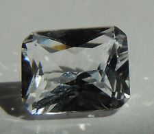 Radiant Brilliant Cut 8 x 10 mm Rare Real 4.0 ct VVS White Sapphire Solitaire