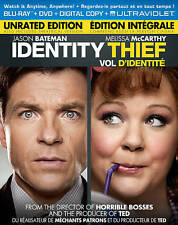 Identity Thief NEW Blu-Ray & DVD /case/cover-no digital/slip- Bateman McCarthy