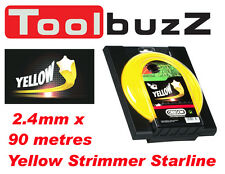 OREGON 2.4mm x 90 metre YELLOW STARLINE STRIMMER BRUSHCUTTER LINE - 99156E
