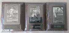 1993 SPORTING NEWS PLAQUE & CARD SET OF 3 BABE RUTH, LOU GEHRIG, TY COBB *NEW