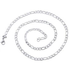 Men's  Stainless Steel 4.8mm Silver Figaro Chain Necklace 51.5cm